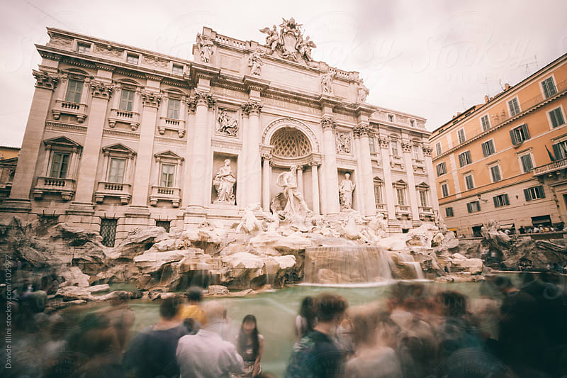 Trevi Fountain in Rome, Italy. by Davide Illini for Stocksy United