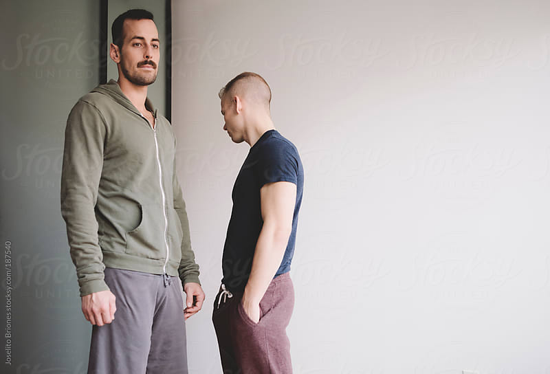 Gay Couple Not Seeing Eye to Eye about their Relationship by Joselito Briones for Stocksy United
