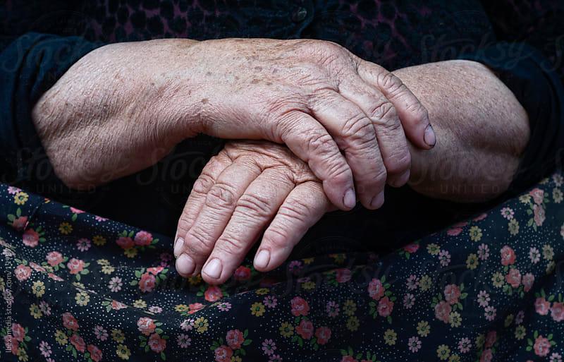 Wrinkled senior  hands by RG&B Images for Stocksy United