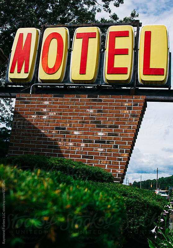 Hotel Sign on Route 1 Connecticut by Raymond Forbes LLC for Stocksy United