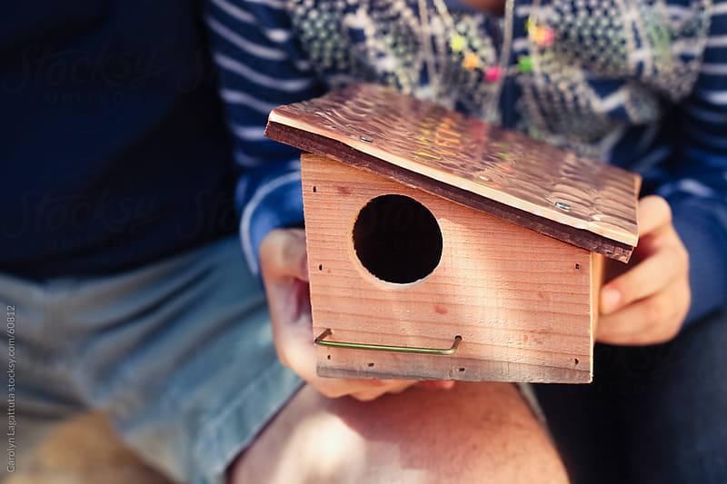 Homemade bird house by Carolyn Lagattuta for Stocksy United
