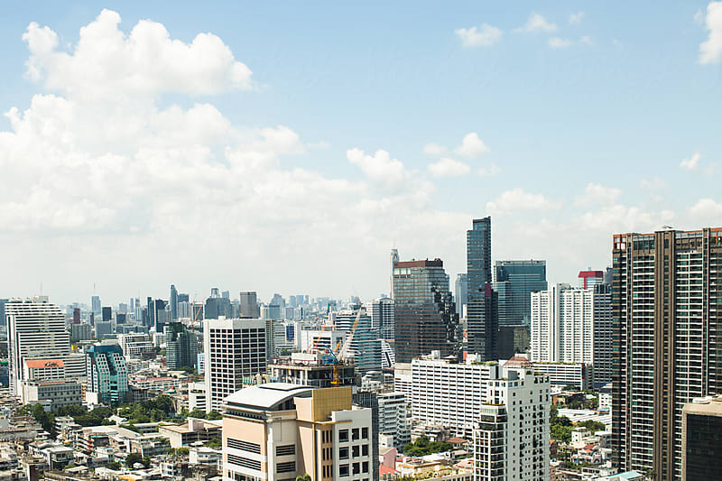 Bangkok City Panorama by Mosuno for Stocksy United