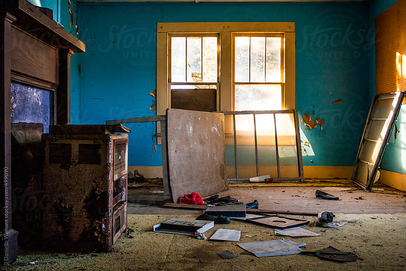 Inside an abandoned house by J Danielle Wehunt for Stocksy United
