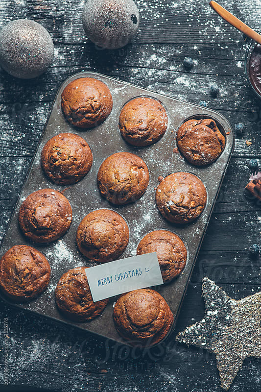 Christmas Chocolate Muffins by Lumina for Stocksy United