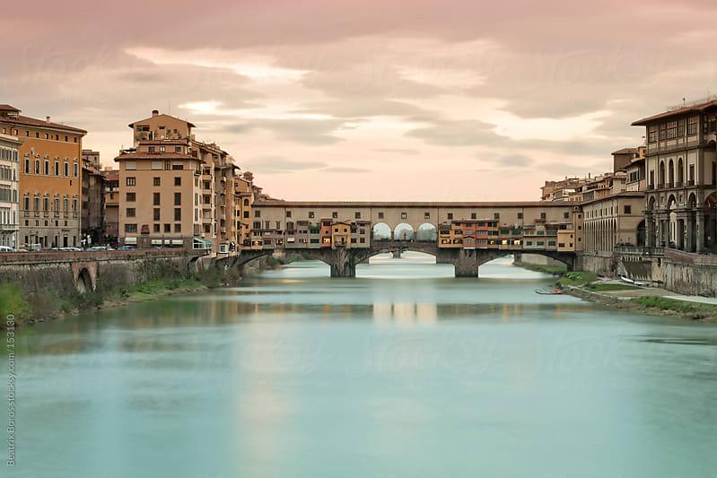The famous bridge: Ponte Vecchio, Florence, Tuscany,Italy by Beatrix Boros for Stocksy United
