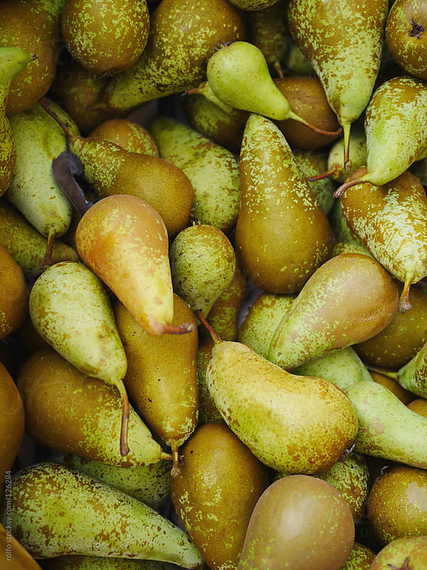 Background of ripe organic pears by rolfo for Stocksy United