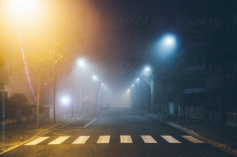 Fog in the City at night by Good Vibrations Images for Stocksy United