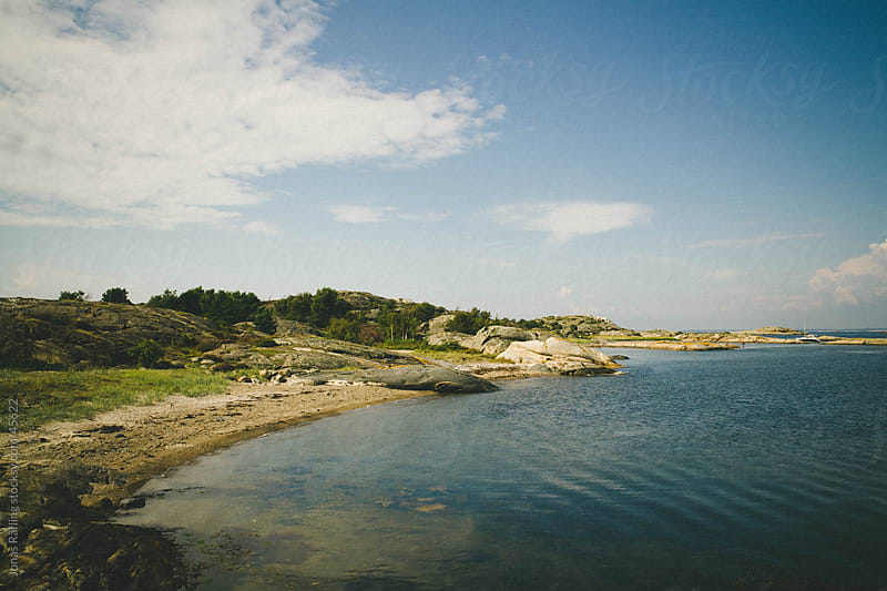 Empty Swedish summer beach on Koster  by Jonas Räfling for Stocksy United