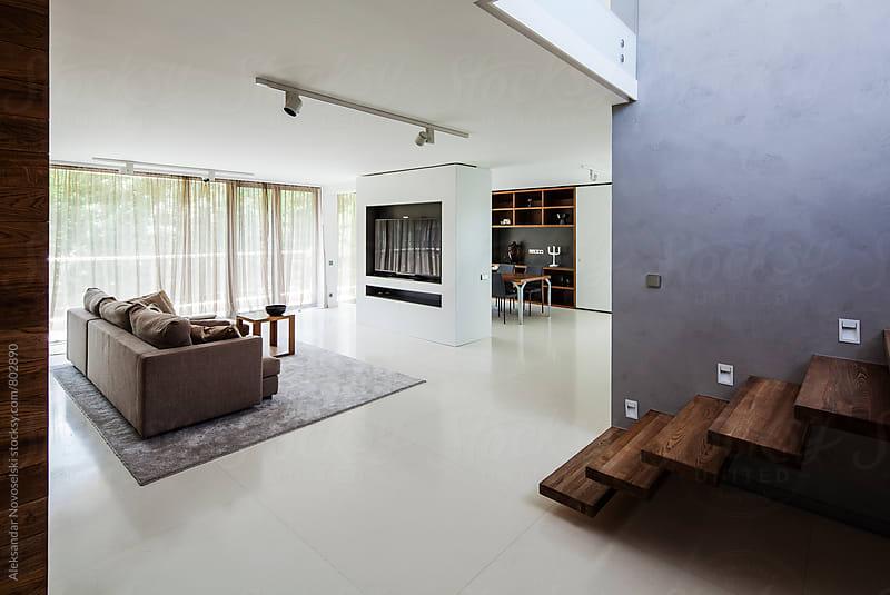 Contemporary minimalist living room by Aleksandar Novoselski for Stocksy United
