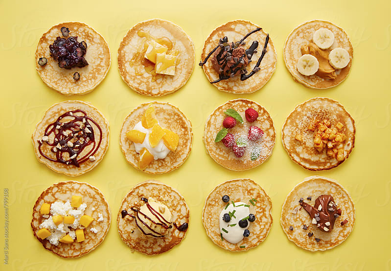 Variety of pancakes by Martí Sans for Stocksy United