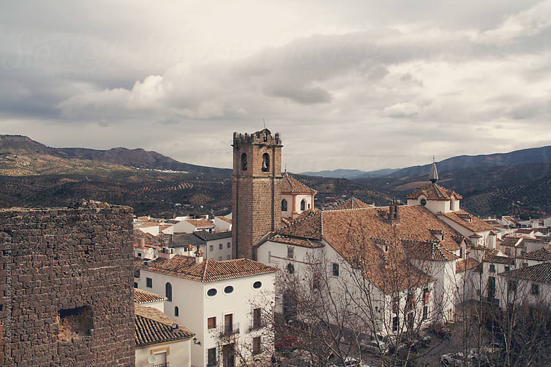 View over Priego de Cordoba, a small town in Andalusia, Spain by Kaat Zoetekouw for Stocksy United