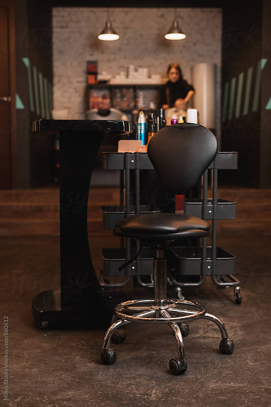 Barber's workplace by Milles Studio for Stocksy United