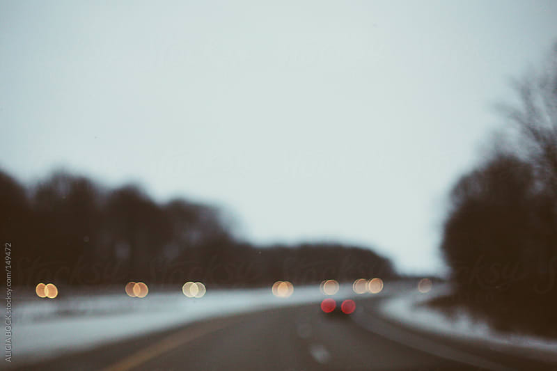 Winter Road Blur by ALICIA BOCK for Stocksy United