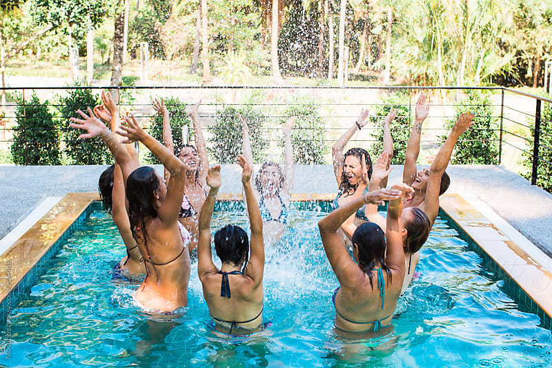 Women in the Pool by Mosuno for Stocksy United