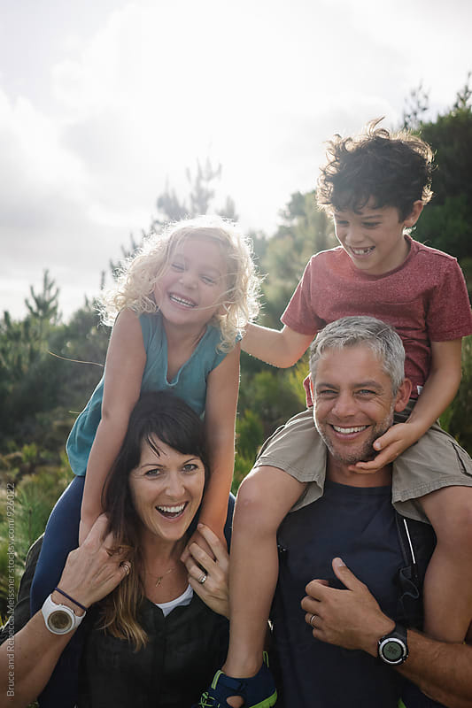 Family Outdoors by Bruce Meissner for Stocksy United