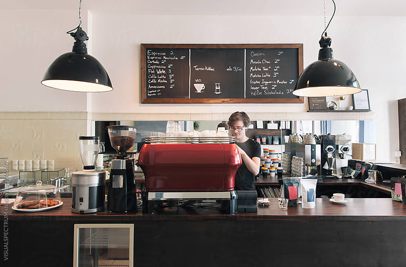 Barista at Work by VISUALSPECTRUM for Stocksy United