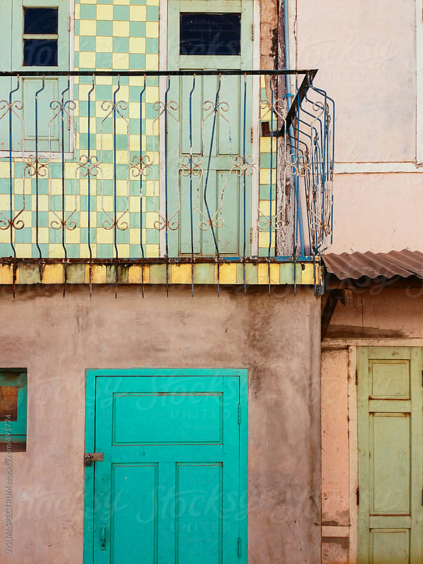 Detail of Colorful House Facade by VISUALSPECTRUM for Stocksy United