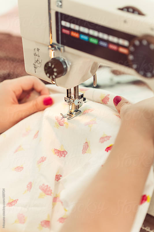 Close Up of a Sewing Machine by Mosuno for Stocksy United