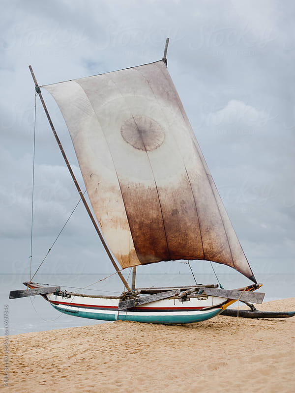 Sail boat on beach by Milles Studio for Stocksy United