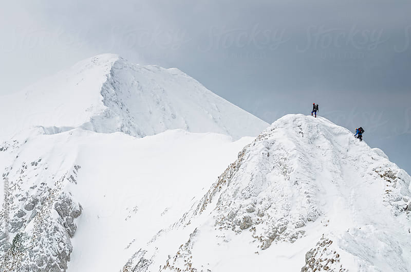 mountaineering team  by RG&B Images for Stocksy United