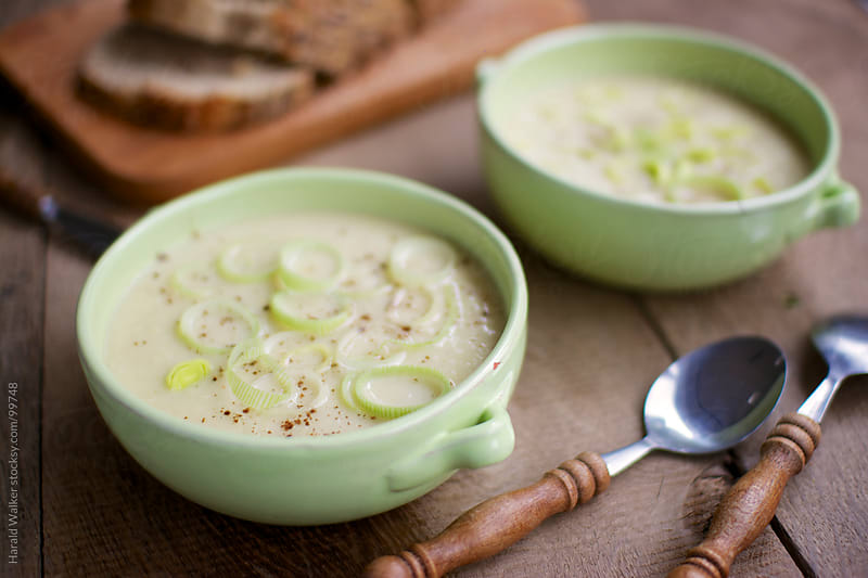 Parsnip, apple and leek soup by Harald Walker for Stocksy United