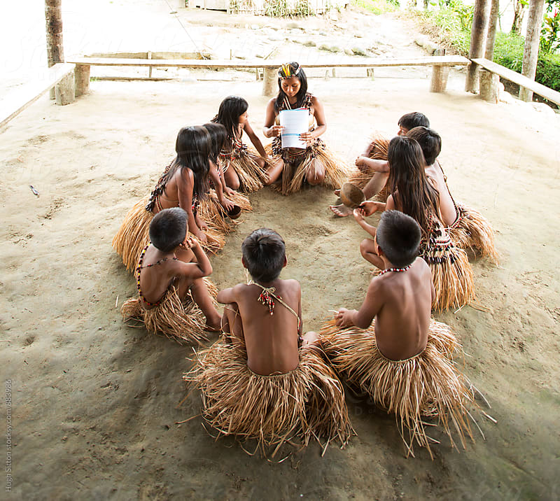Indigenous school. Ecuador. by Hugh Sitton for Stocksy United
