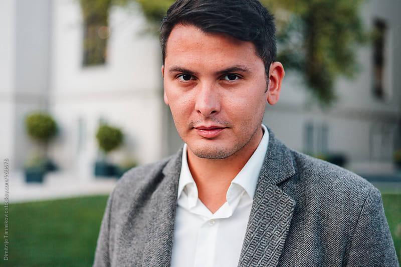 Portrait of stylish man by Dimitrije Tanaskovic for Stocksy United