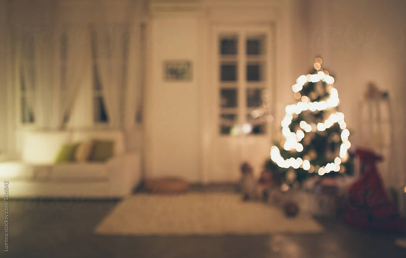 Living Room on Christmas Eve Defocused by Lumina for Stocksy United