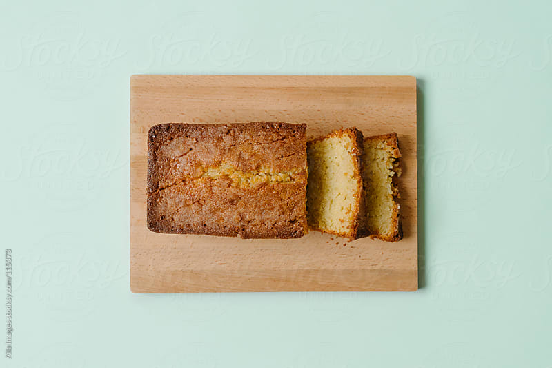 Lemon Drizzle Cake from Above by Aila Images for Stocksy United