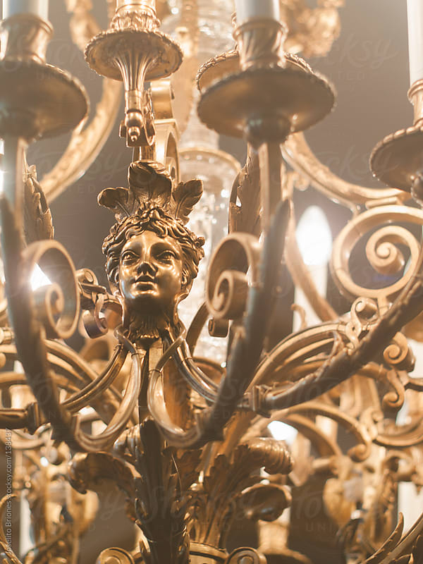 Detail of a Chandelier Lighting by Joselito Briones for Stocksy United