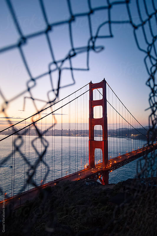 Golden Gate Bridge at Dusk by Good Vibrations Images for Stocksy United