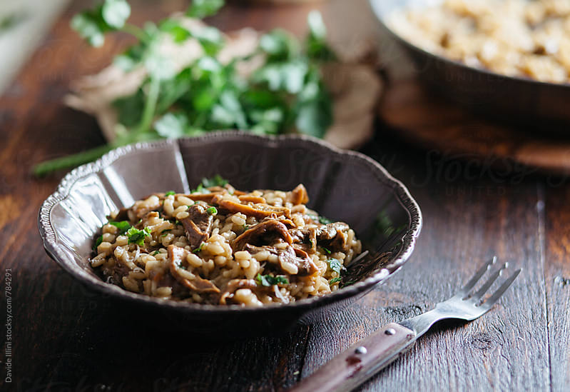 Mushroom Risotto by Davide Illini for Stocksy United