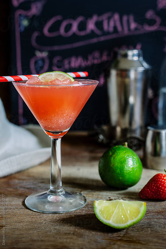 Strawberry daiquiri by Darren Muir for Stocksy United