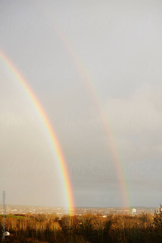 Double rainbow. by Jose Coello for Stocksy United