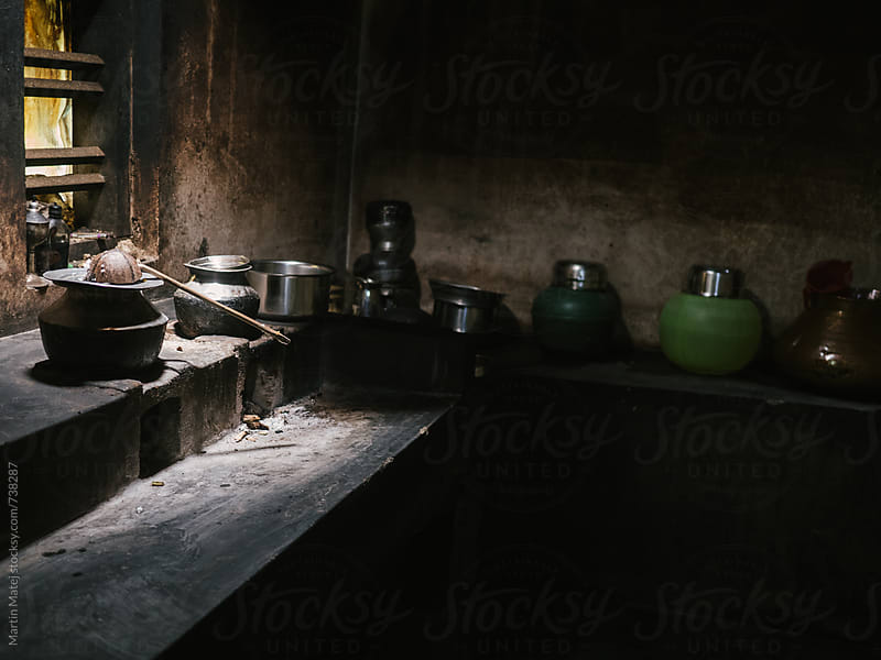 Rural kitchen with basic equipment by Martin Matej for Stocksy United