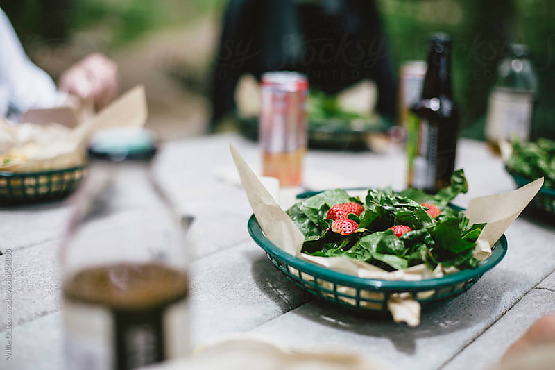 Salad on Picnic Table by Willie Dalton for Stocksy United