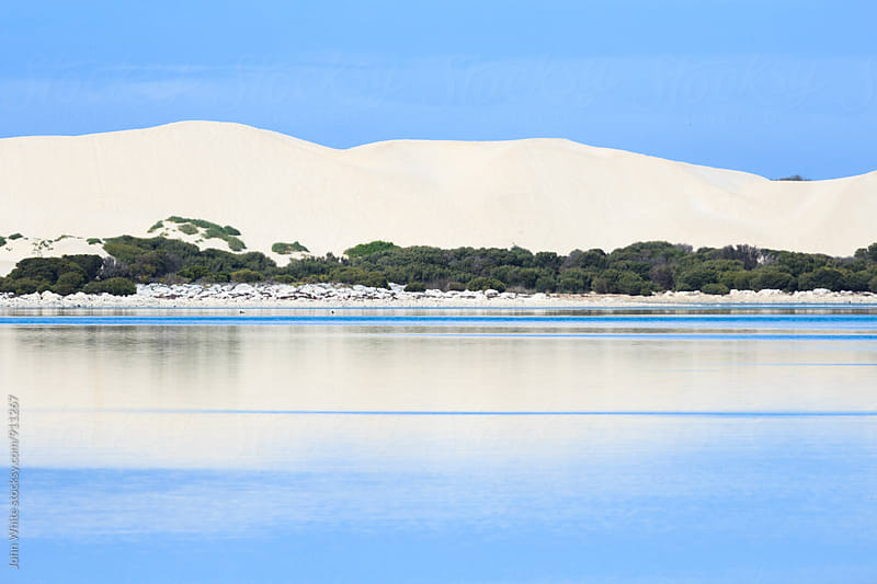 Sand dunes at Sleaford Mere. South Australia. by John White for Stocksy United