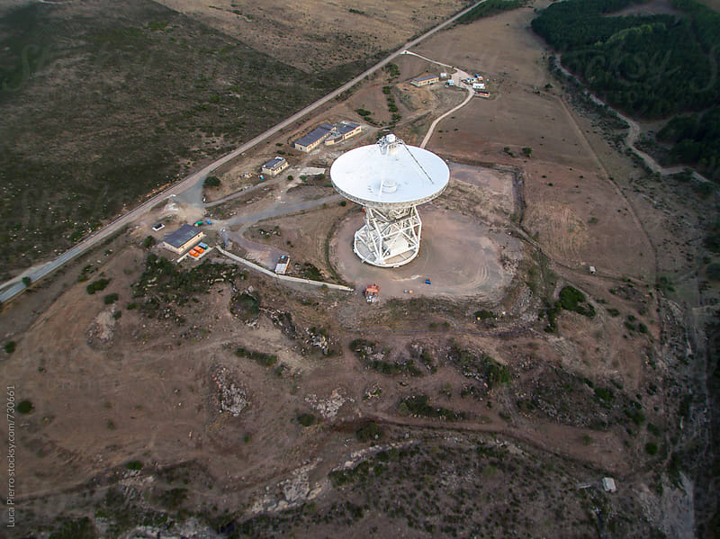 Large radio telescope  by Luca Pierro for Stocksy United