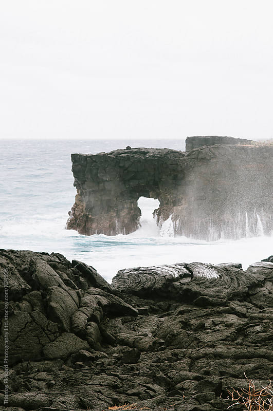 Cliff and waves, South Coast Samoa. by Thomas Pickard Photography Ltd. for Stocksy United
