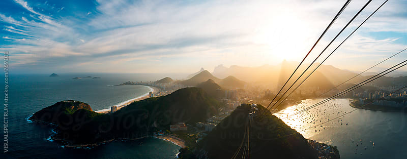 Rio de Janeiro Skyline With Christ the Redeemer Seen From Sugarloaf by Julien L. Balmer for Stocksy United