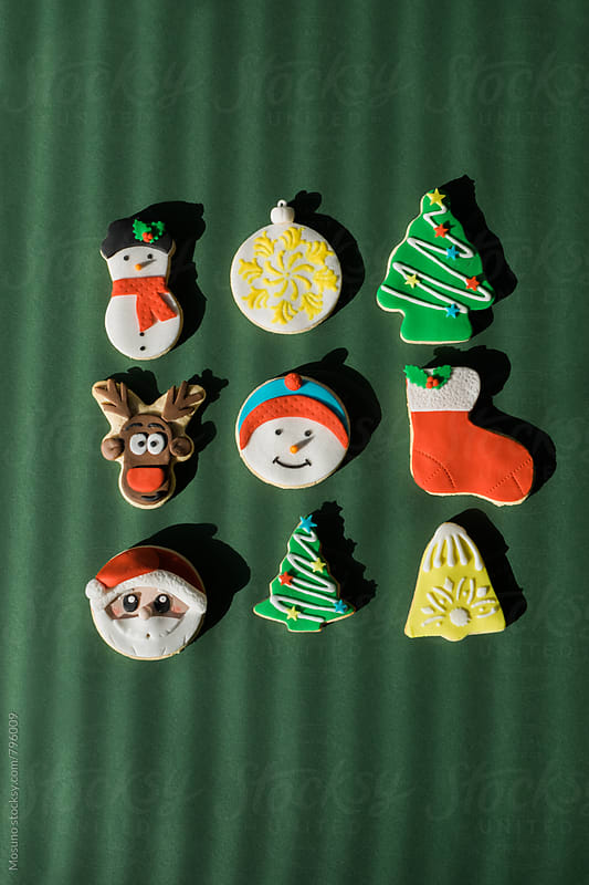 Cookies Shaped as Christmas Symbols by Mosuno for Stocksy United