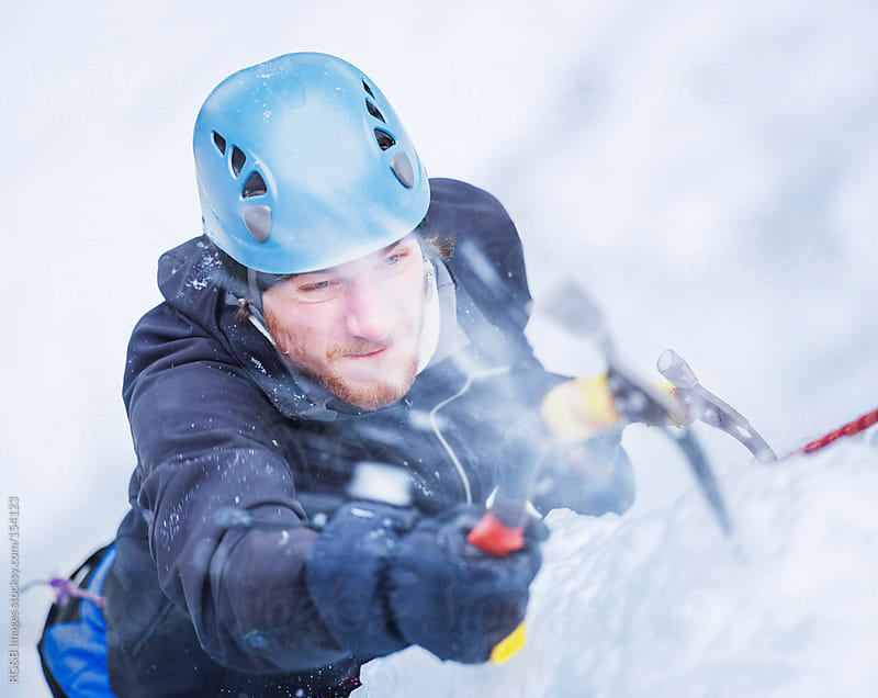 Ice climber portrait by RG&B Images for Stocksy United