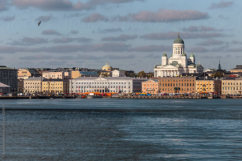 Helsinki Skyline as Seen from a Ferry (Finland) by Tom Uhlenberg for Stocksy United