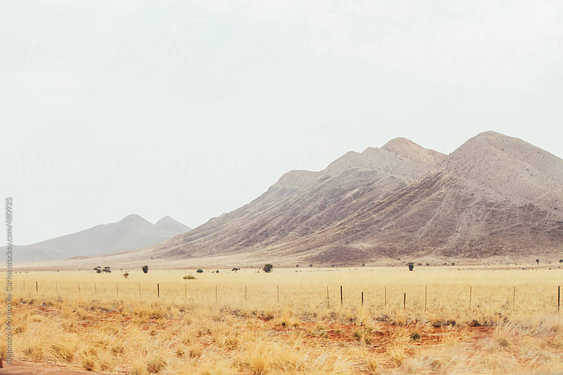 Mountains on the desert landscape by Alejandro Moreno de Carlos for Stocksy United