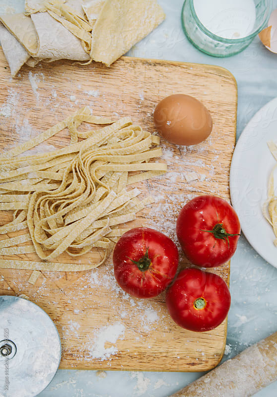 Fresh pasta with organic ingredients. by kkgas for Stocksy United