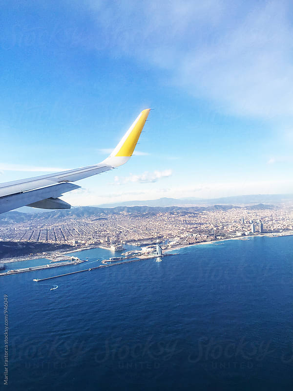 Barcelona from a Plane by Marilar Irastorza for Stocksy United