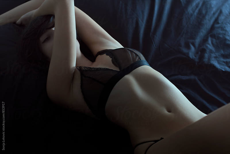 black beauty in black underwear by Sonja Lekovic for Stocksy United