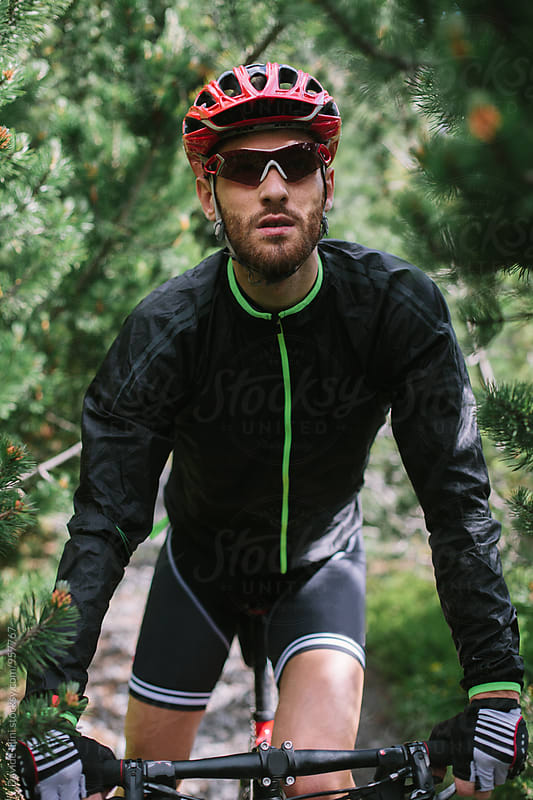 Portrait of a cyclist outdoor by Davide Illini for Stocksy United
