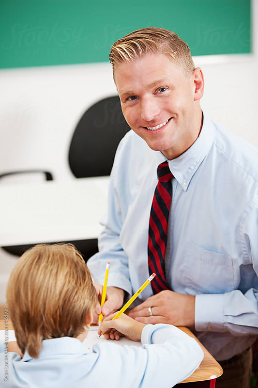 Classroom: Teacher in Class Loving His Job by Sean Locke for Stocksy United