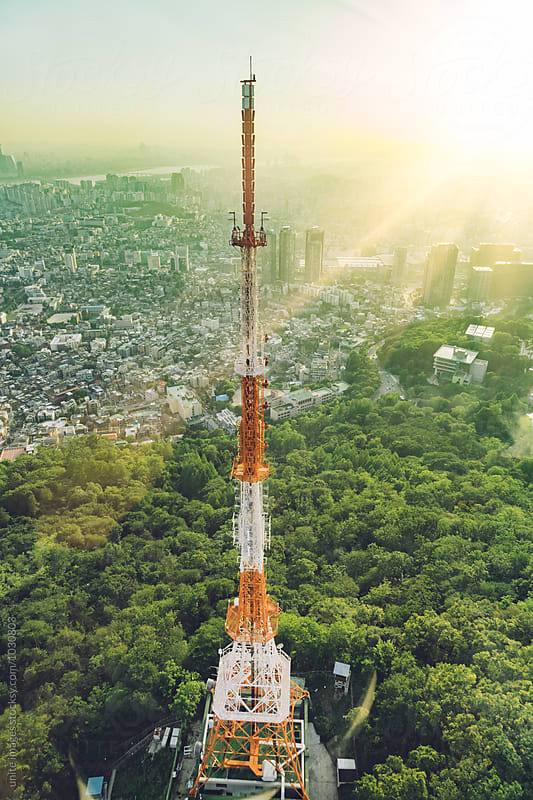 Seoul Tower in Namsan Park, Seoul by unite  images for Stocksy United